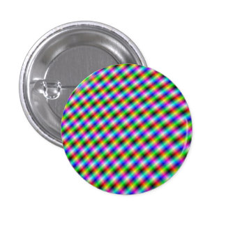 Botón de neón de Pinback de la marca de rayitas Pin Redondo De 1 Pulgada