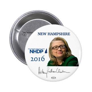 Botón de New Hampshire Pinback del funcionario de Pin Redondo De 2 Pulgadas