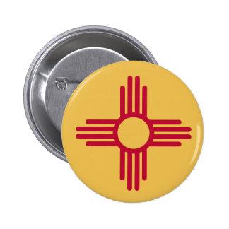 Botón de New México Pin Redondo De 2 Pulgadas