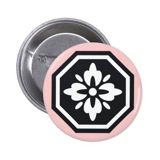 Botón de Nihon del octágono Pin