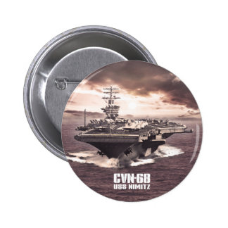 Botón de Nimitz de portaaviones Pin Redondo De 2 Pulgadas