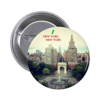 Botón de NUEVA YORK, NUEVA YORK