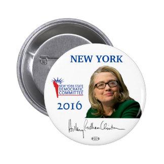 Botón de Nueva York Pinback del funcionario de Pin Redondo De 2 Pulgadas