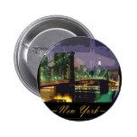 botón de Nueva York Pins