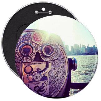 Botón de NYC Pin Redondo De 6 Pulgadas