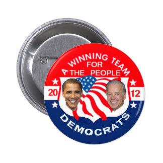 Botón de Obama 2012 Pins