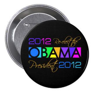 Botón de OBAMA 2012 Pin Redondo De 3 Pulgadas