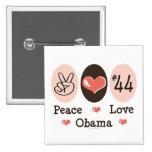 Botón de Obama 44 del amor de la paz Pins