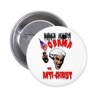 Botón de Obama Anti-Cristo Pin Redondo De 2 Pulgadas
