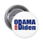 Botón de Obama Biden 2008 Pin