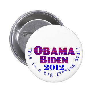 Botón de Obama Biden 2012 BFD Pin Redondo De 2 Pulgadas