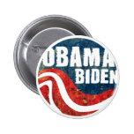 Botón de Obama Biden del Grunge Pins