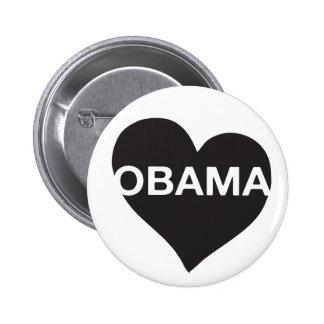 Botón de Obama del corazón Pins