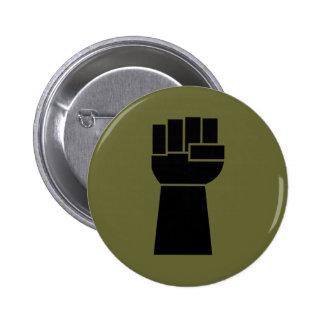 Botón de Obama del puño del negro del poder negro Pin Redondo De 2 Pulgadas