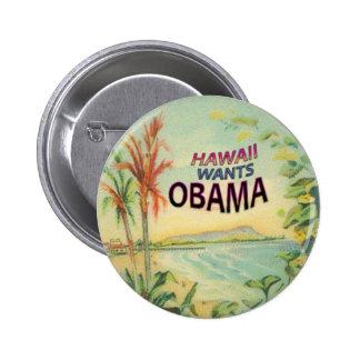 Botón de Obama Hawaii Pin