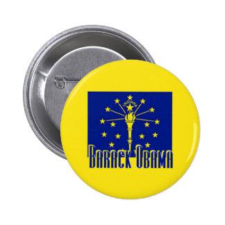 Botón de Obama INDIANA Pin Redondo De 2 Pulgadas