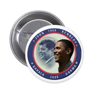 Botón de Obama JFK Pin Redondo De 2 Pulgadas