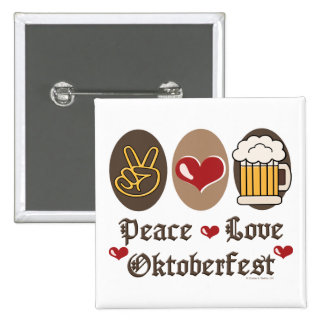 Botón de Oktoberfest del amor de la paz Pin