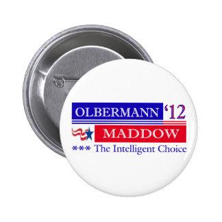 Botón de Olbermann Maddow 2012 Pin
