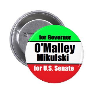 Botón de O'Malley Mikulski Pin Redondo De 2 Pulgadas