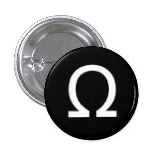 Botón de Omega Pin Redondo De 1 Pulgada
