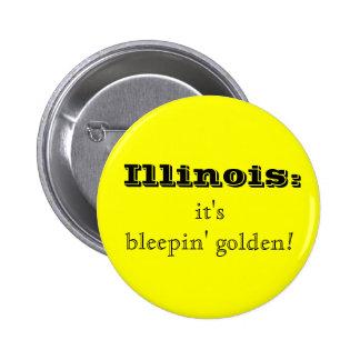 Botón de oro de Illinois Bleepin Pins