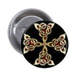 Botón de oro de la cruz céltica pins