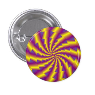 Botón de oro de Pinback del espiral de la Pin