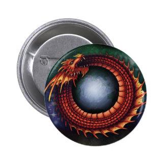 Botón de Ouroboros Pin Redondo De 2 Pulgadas