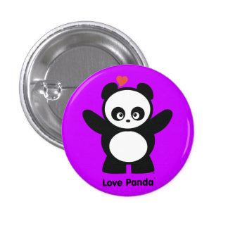 Botón de Panda® del amor Pin Redondo De 1 Pulgada