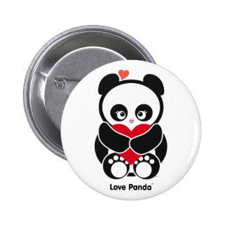 Botón de Panda® del amor Pin Redondo De 2 Pulgadas