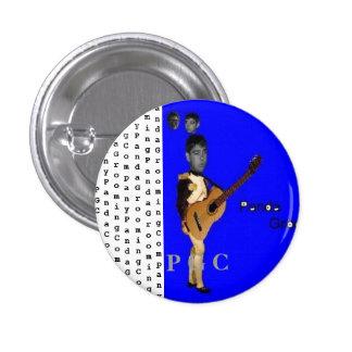 Botón de Panda Grooming Company Pin Redondo De 1 Pulgada
