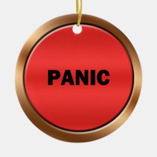 Botón de pánico adorno redondo de cerámica
