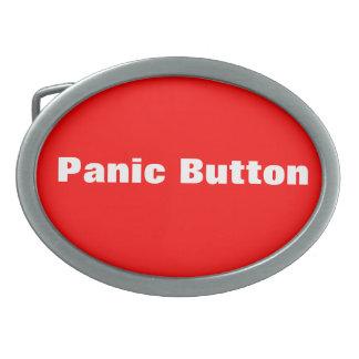 Botón de pánico hebilla de cinturón oval