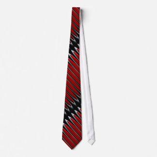 Botón de pánico rojo en negro corbatas