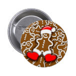 Botón de Papá Noel del pan de jengibre del navidad Pin