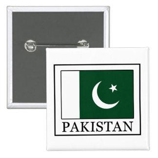 Botón de Paquistán Pin Cuadrado