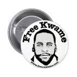 """Botón de parachoques de """"Kwame libre"""" Pin Redondo De 2 Pulgadas"""