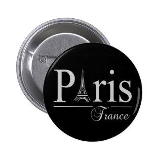 Botón de París Francia Pin Redondo De 2 Pulgadas