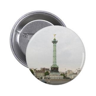 Botón de París la plaza de la Concordia Pin Redondo De 2 Pulgadas