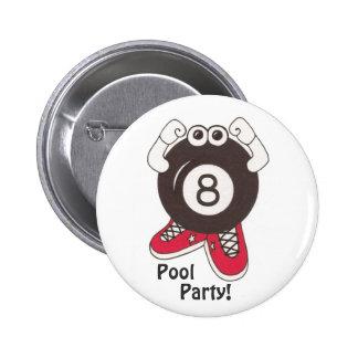 Botón de Partier de la piscina de 8 bolas Pin