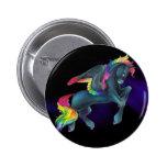 Botón de Pegaso del arco iris Pin