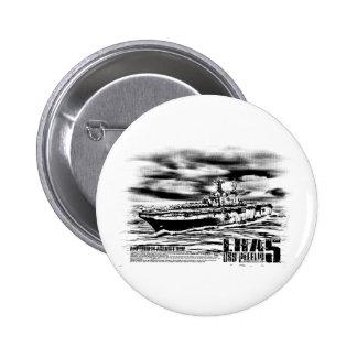 Botón de Peleliu de la nave de asalto de carros Pin Redondo De 2 Pulgadas
