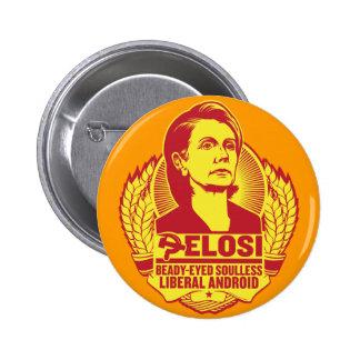 Botón de Pelosi Pin Redondo De 2 Pulgadas
