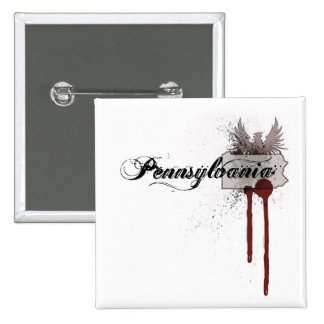 Botón de Pennsylvania de la salpicadura de la sang Pins