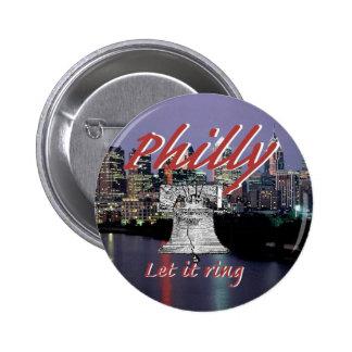 Botón de Philadelphia Pennsylvania Pin Redondo De 2 Pulgadas