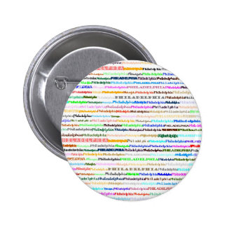 Botón de Philadelphia Pin Redondo De 2 Pulgadas
