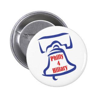 Botón de Philly 4 Hillary Pin Redondo De 2 Pulgadas