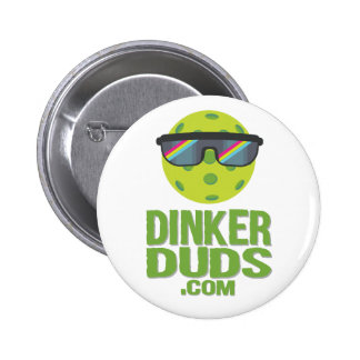 Botón de Pickleball de los desastres de Dinker Pin Redondo De 2 Pulgadas