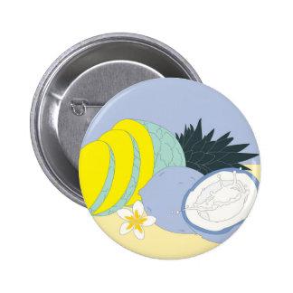 Botón de Piña Coolada Pin Redondo De 2 Pulgadas
